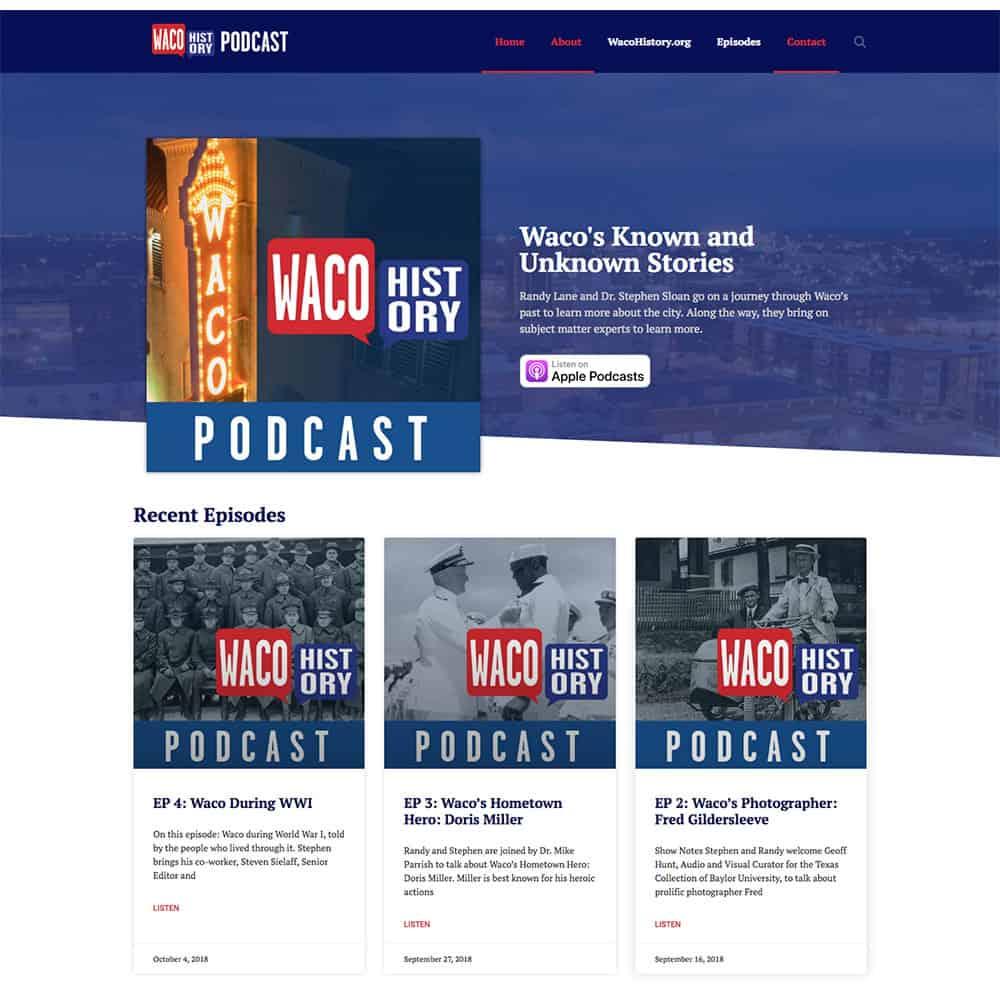 waco history podcast website
